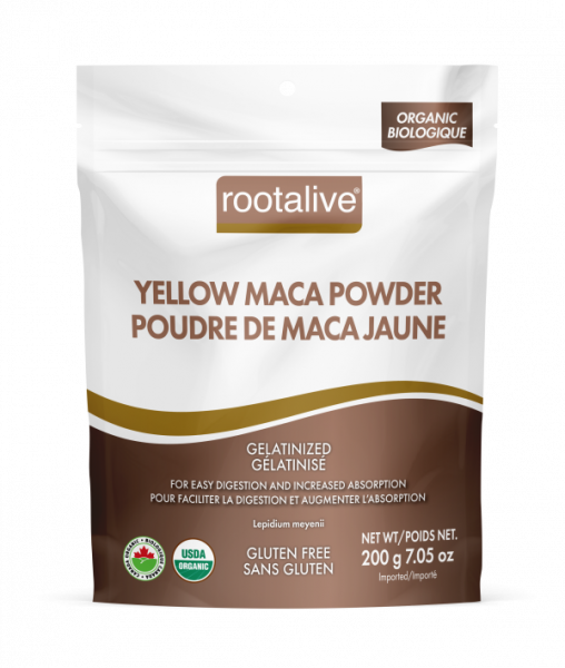 Organic Gelatinized Yellow Maca Powder 200g