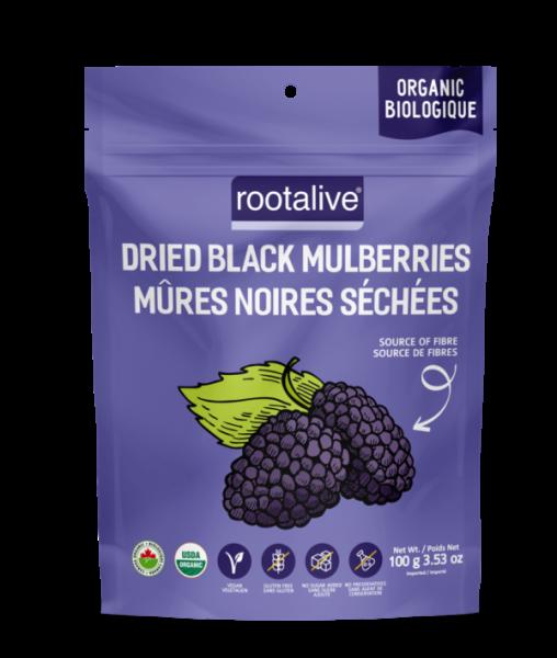 Organic Dried Black Mulberries 100g