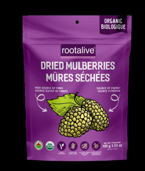 Organic Dried Mulberries White 100g