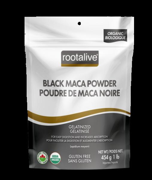 Organic Gelatinized Black Maca Powder 454g