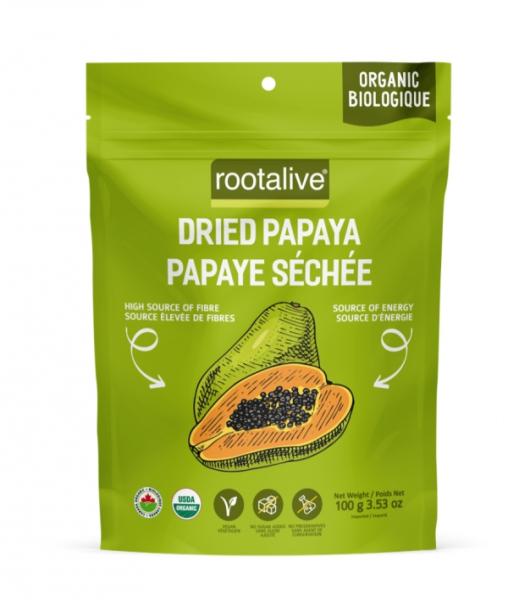 Organic Dried Papaya 100g